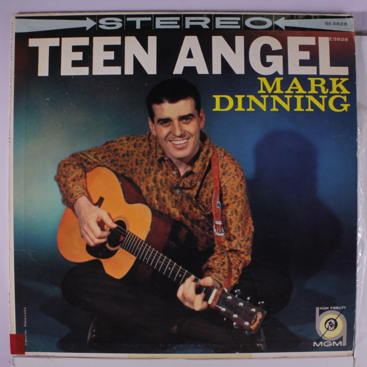 Mark Dinning, Teen Angel album cover.