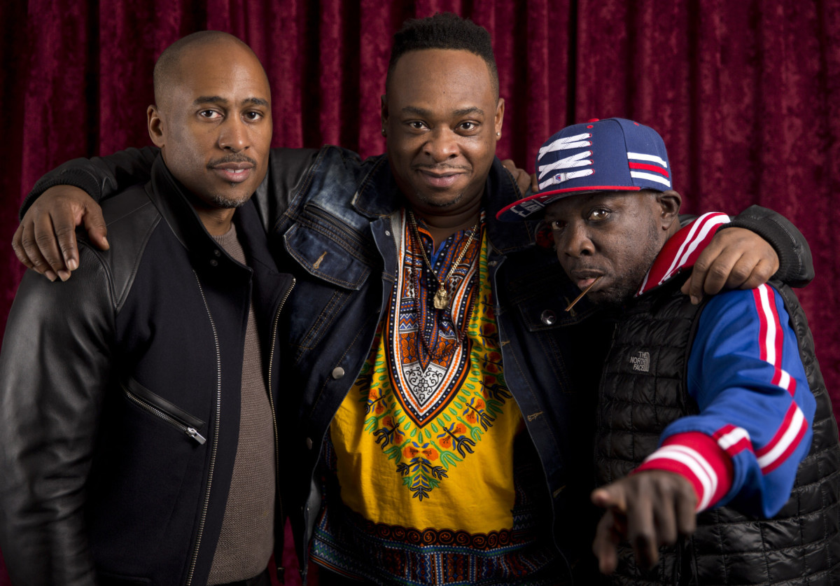 (Left To Right) Ali Shaheed Muhammad, Jarobi White and Phife Dawg.
