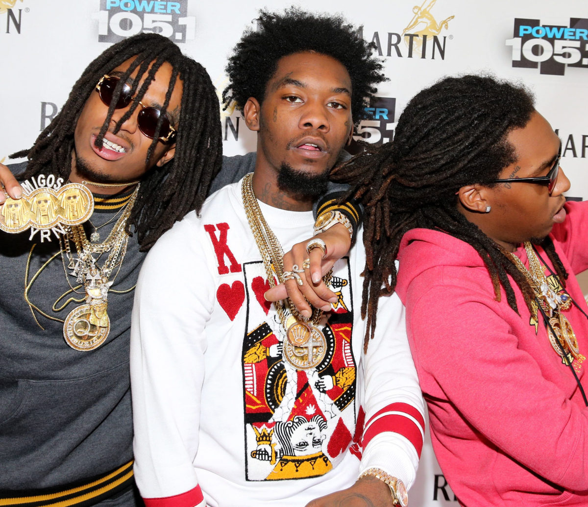 Left to Right: Quavo, Offset and Takeoff