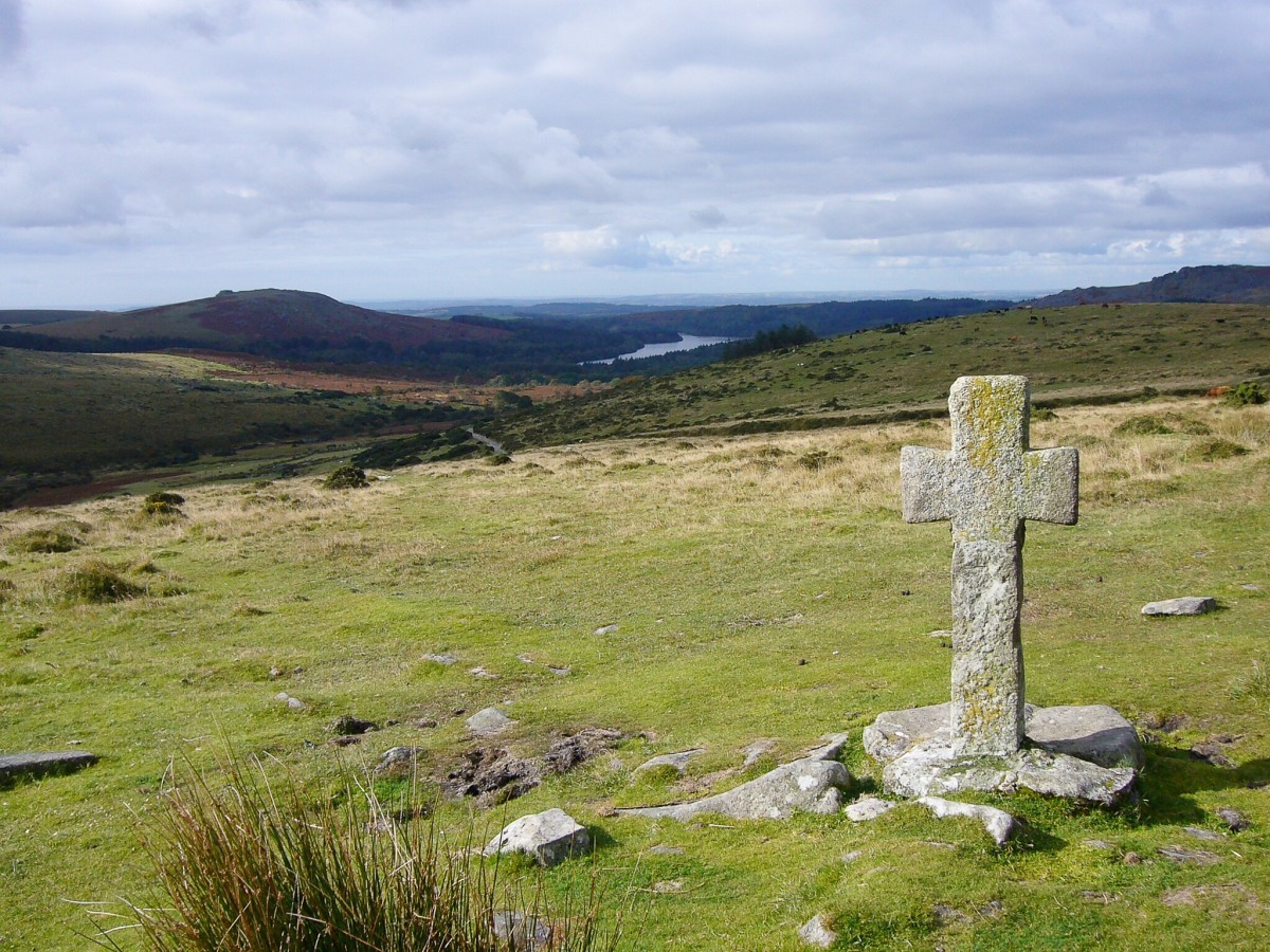 An ancient cross on Dartmoor