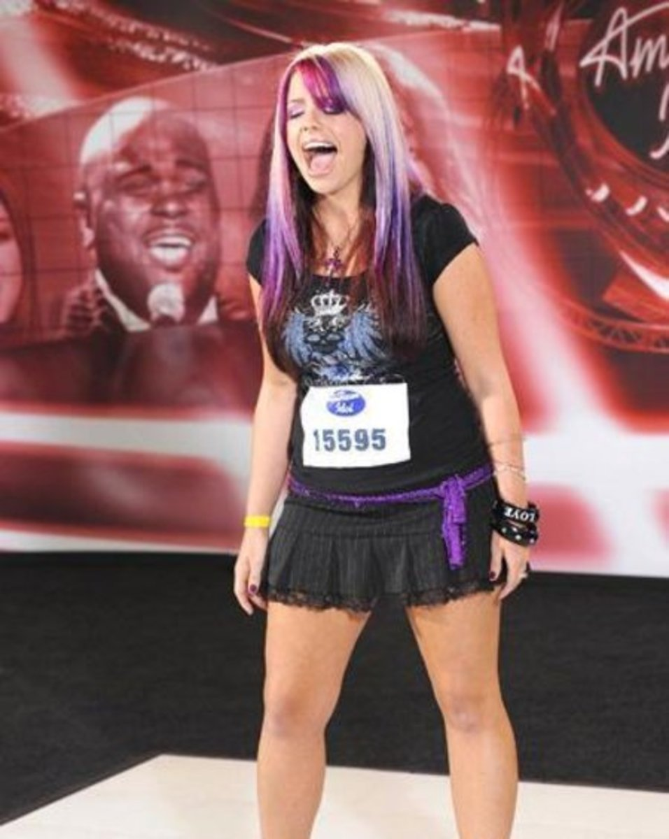 Author's former student, Kristen McNamara, a finalist on television's American Idol.  Notice how she sings with her mouth fully open.