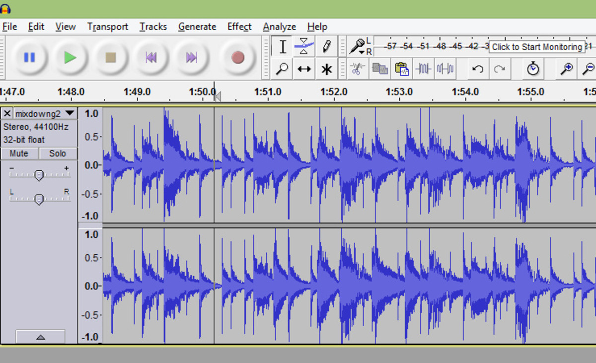 You can use Audacity to create music.