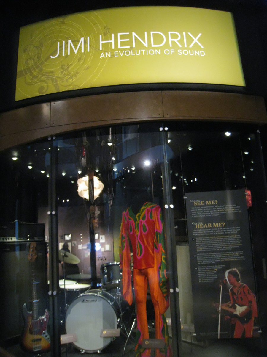 Jimi Hendrix stage set at Emp Museum in Seattle.