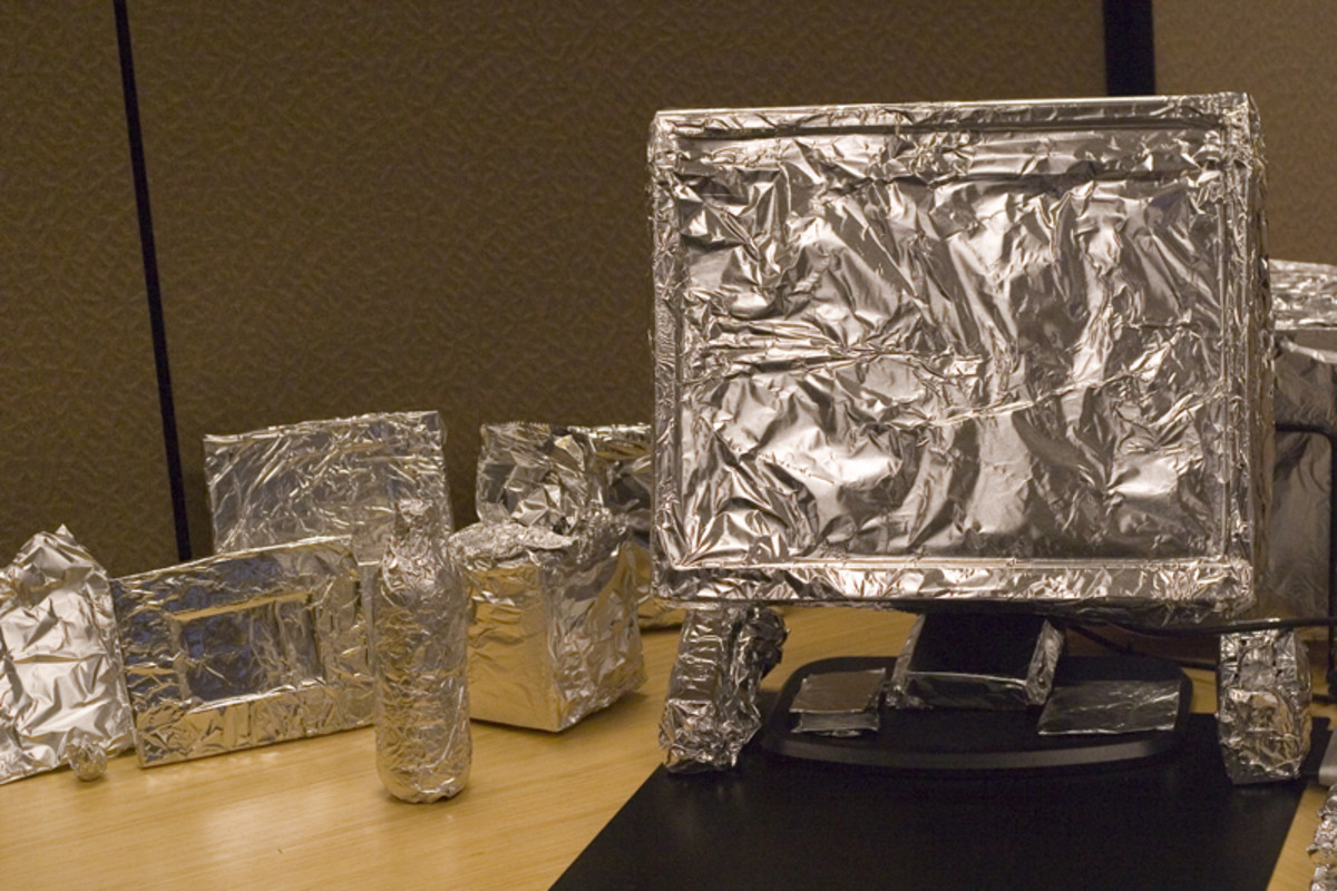 Wrap a coworker's computer and desk items in aluminum foil for a special surprise.