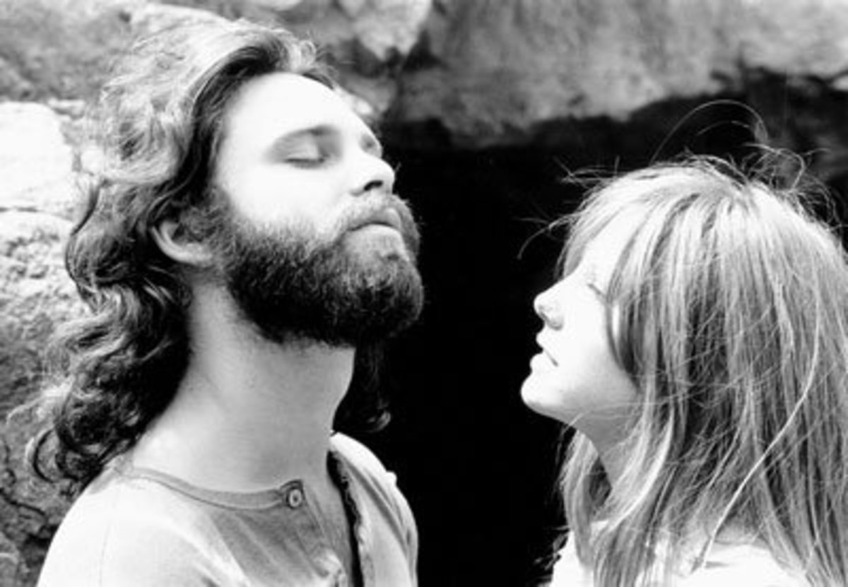 Jim Morrison with Pam Courson