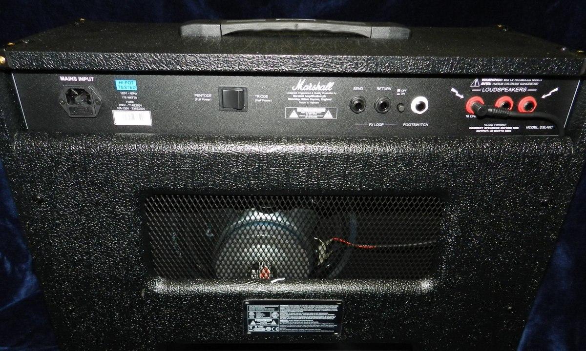 Marshall DSL40C - Back Panel