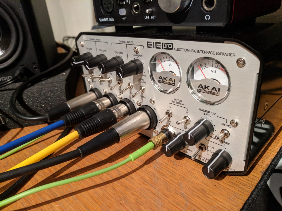 The main inputs for the EIE Pro are on the front, which makes for ease of switching cables in and out, but can also mean a bit of a messy work space.