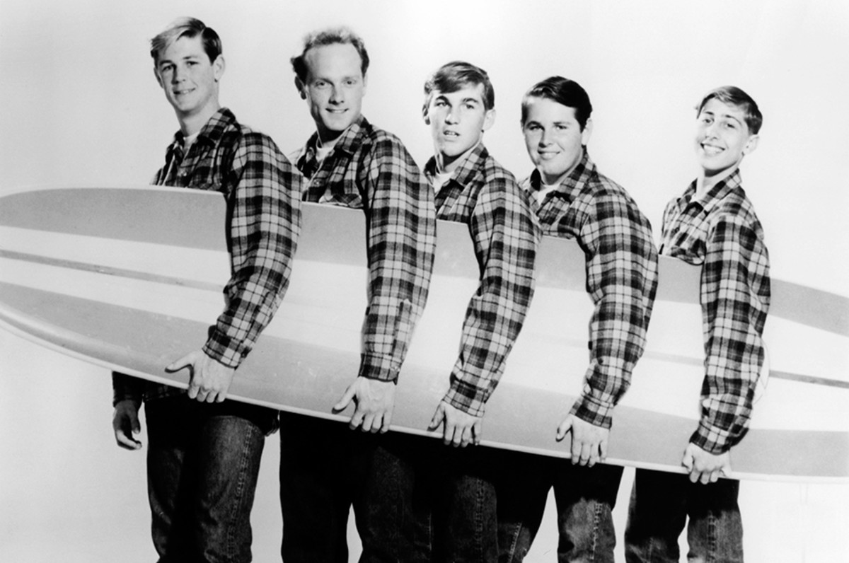 The early Beach Boys. David Marks on the far right.
