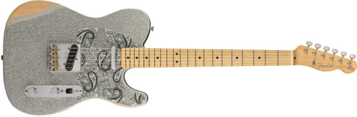 Fender Brad Paisley Road Worn Telecaster Silver Sparkle