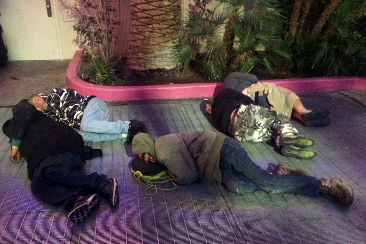 Homeless people in Las Vegas