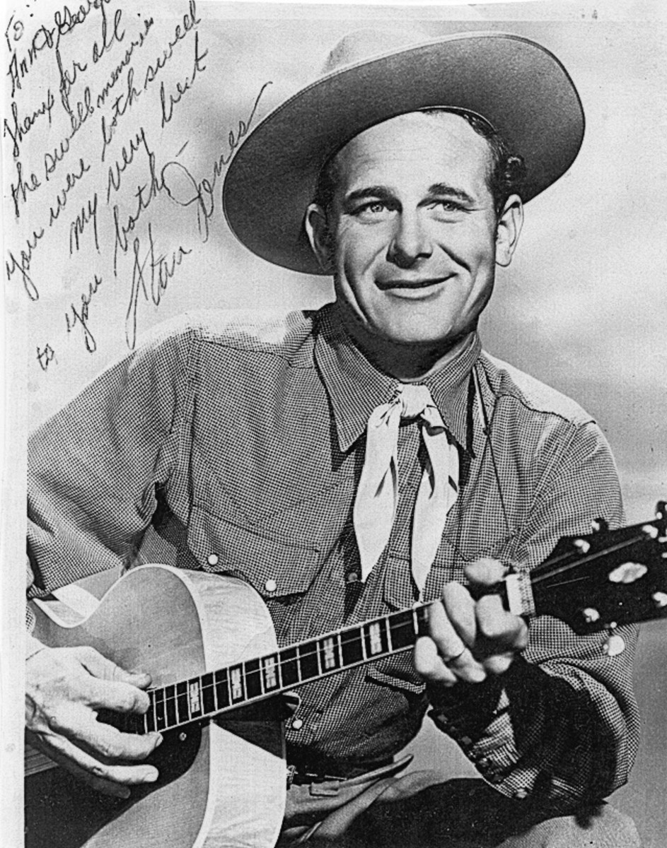 Stan Jones was National Park ranger, who in his spare time composed over a 100 songs, including Ghost Riders in the Sky. In 1997, he was posthumously admitted to the Western Music Association Hall of Fame.