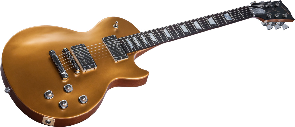 Gibson USA Les Paul Tribute HP 2017 Electric Guitar, Satin Gold
