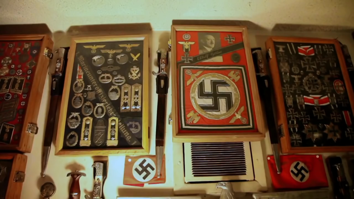 Lemmy's collection of WWII memorabilia.