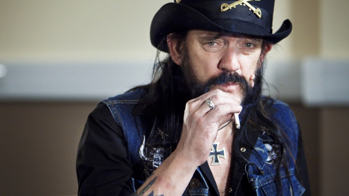 Lemmy, pictured with his trademark Iron Cross necklace.