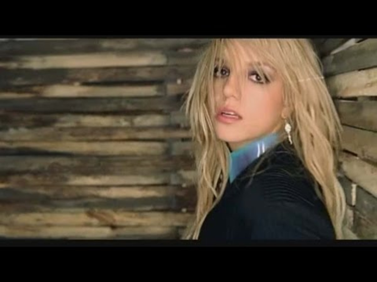 "Spears in ""Me Against the Music."""