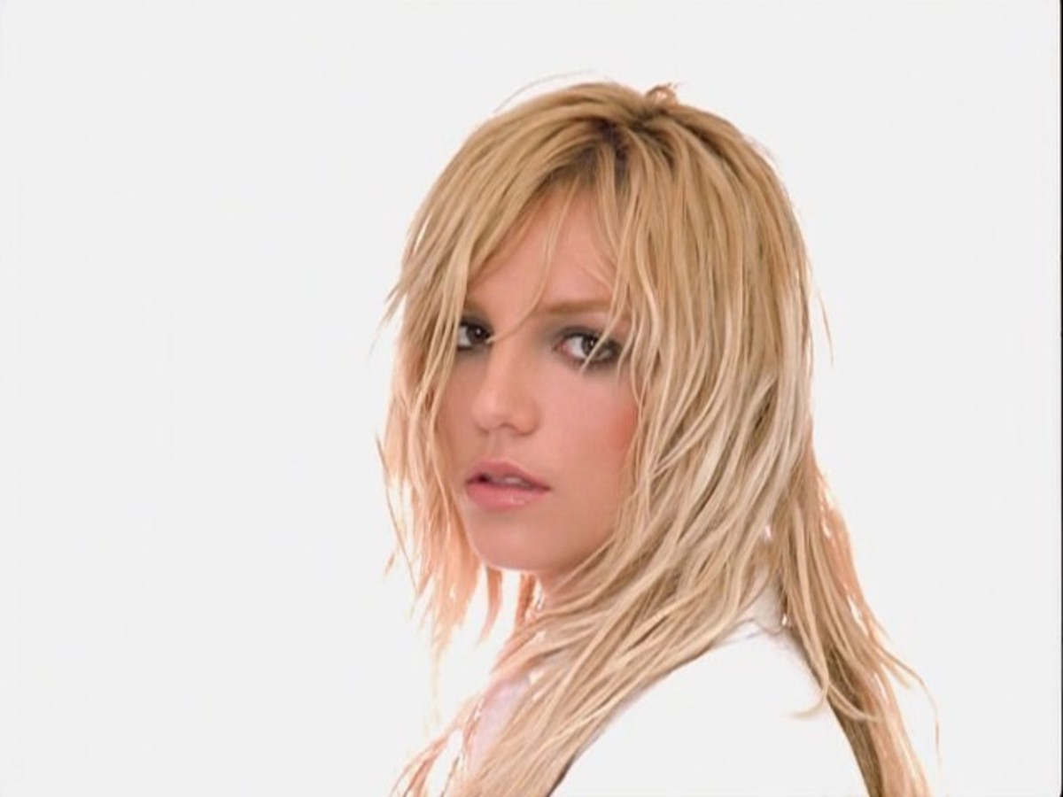 "Spears in her emotional ballad ""Everytime."""
