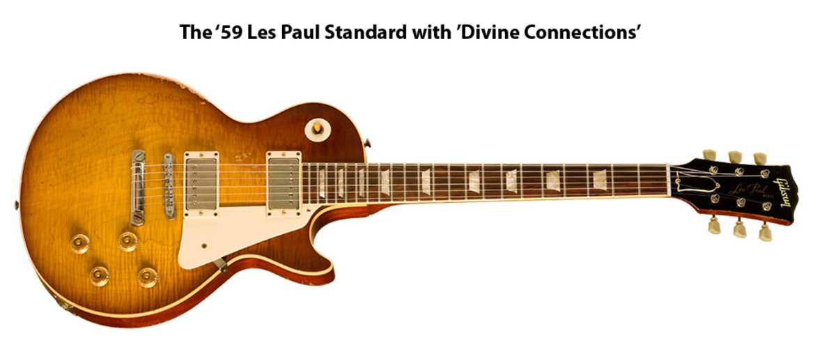 A reproduction, by Gibson, of Billy Gibbons 1959 Gibson Les Paul, his Miss Pearly Gates.