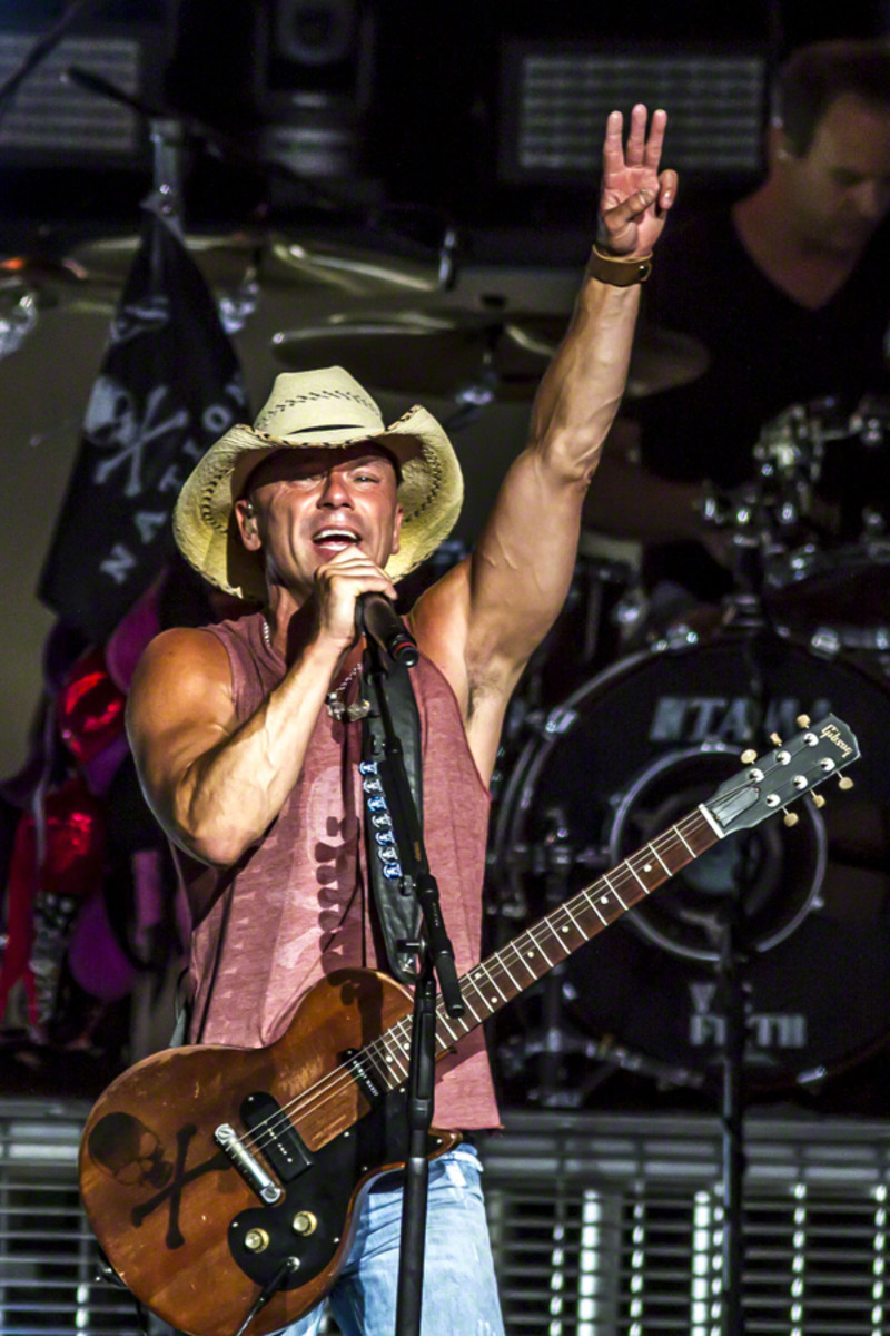 Country star Kenny Chesney performs in Indianapolis.