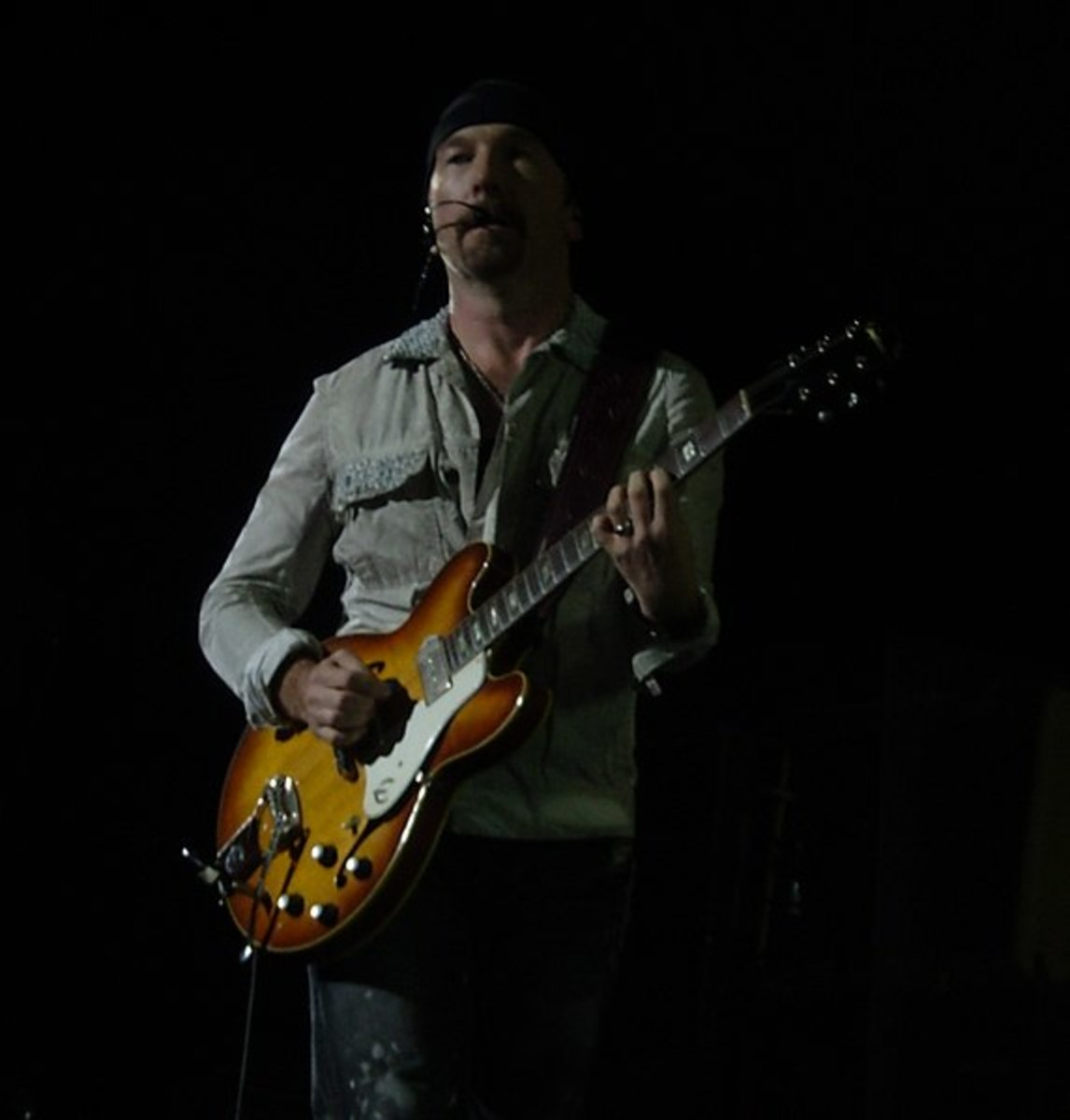The Edge of U2 with his Epiphone Casino