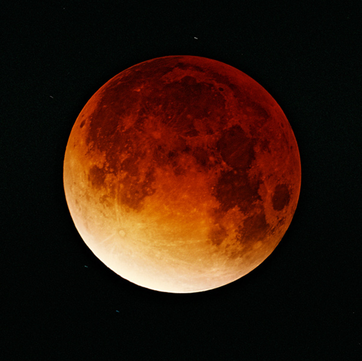 The moon during a lunar eclipse