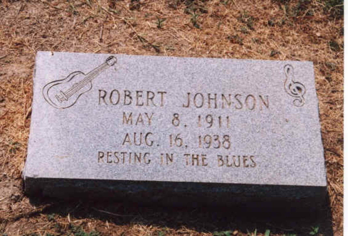 This grave says Robert Johnson, but there are two others also purported to be the final resting place of Robert Johnson.