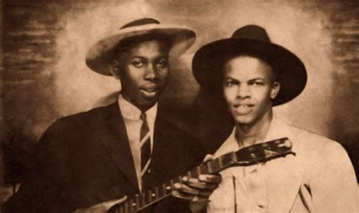 Whether or not that is really Robert Johnson on the left is a matter of some controversy and dispute.