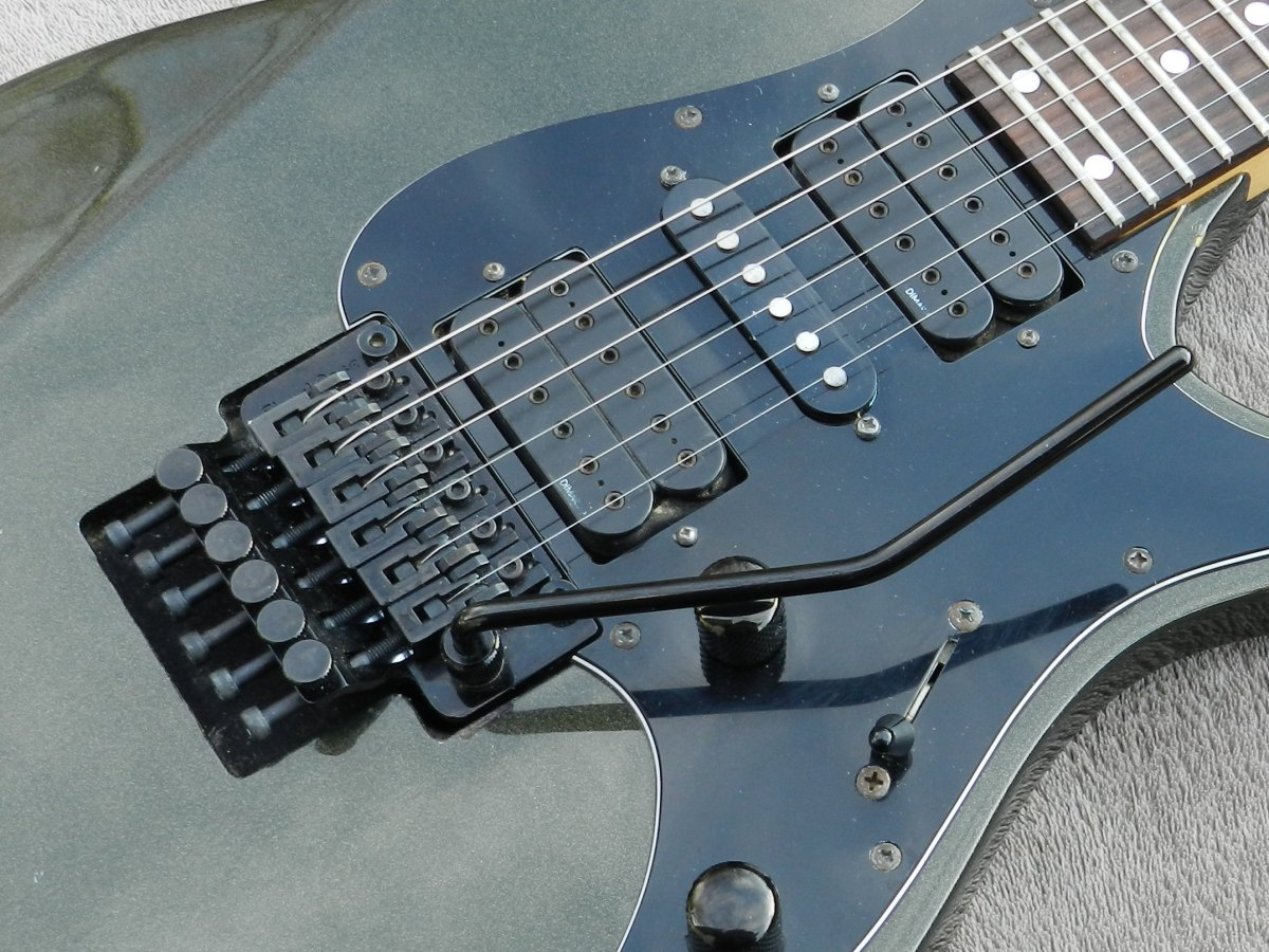 A Floyd Rose Tremolo and hot humbuckers are part of the recipe for a great metal guitar.