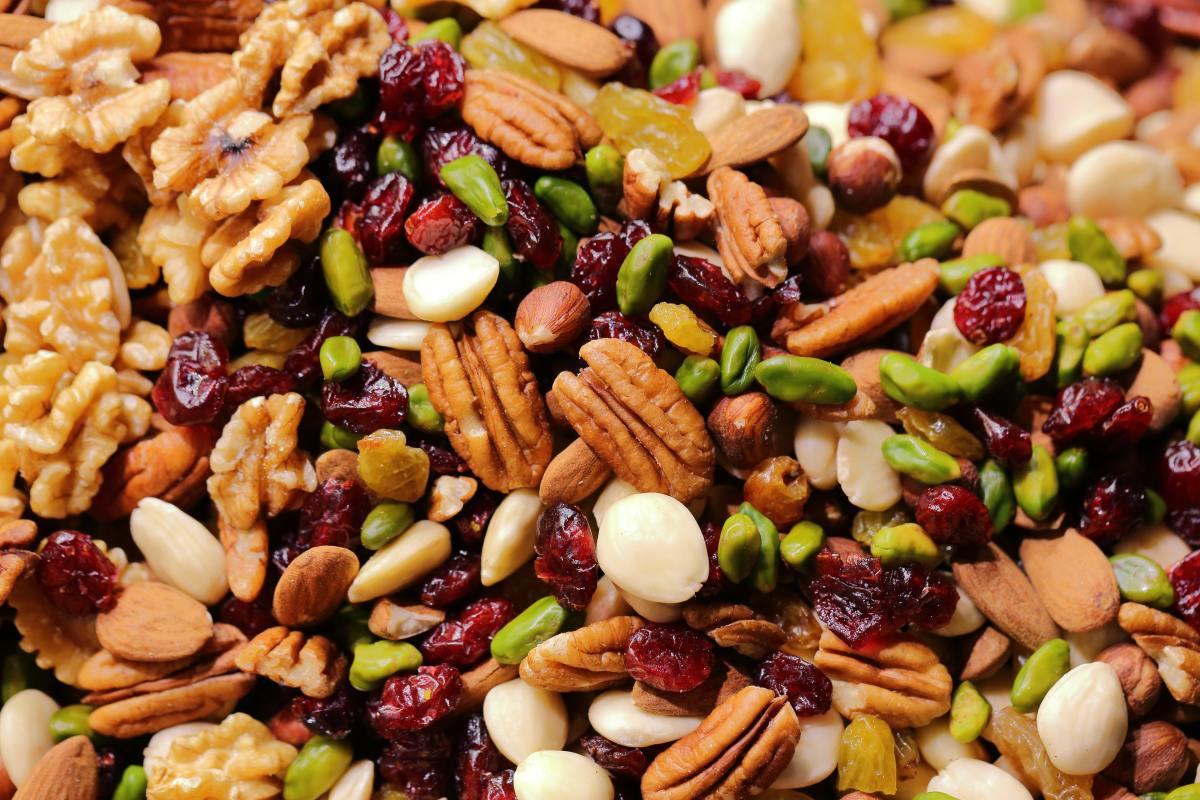 Trail mix is a great snack to bring to a festival.