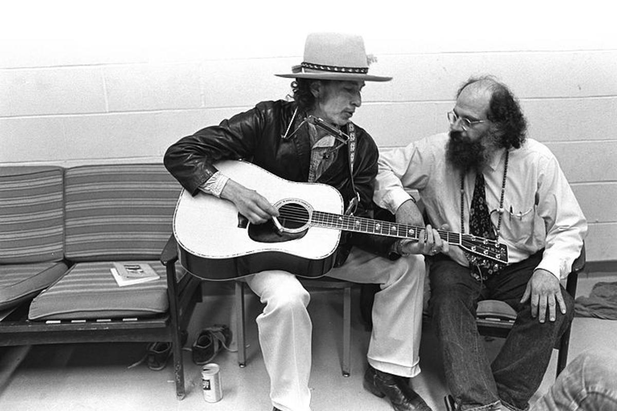 Pictured here are Bob Dylan and Allan Ginsberg . In 2018, Bob Dylan received a Nobel Prize, not for his literary works, but rather for his songwriting.. In rewarding the prize, the Nobel committee compared Bob Dylan to the ancient Greek poet, Homer.