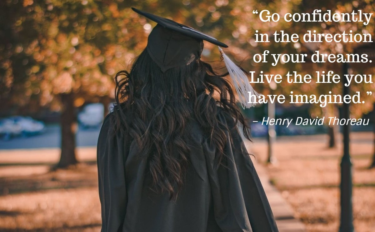 """Go confidently in the direction of your dreams. Live the life you have imagined."" – Henry David Thoreau, American writer"