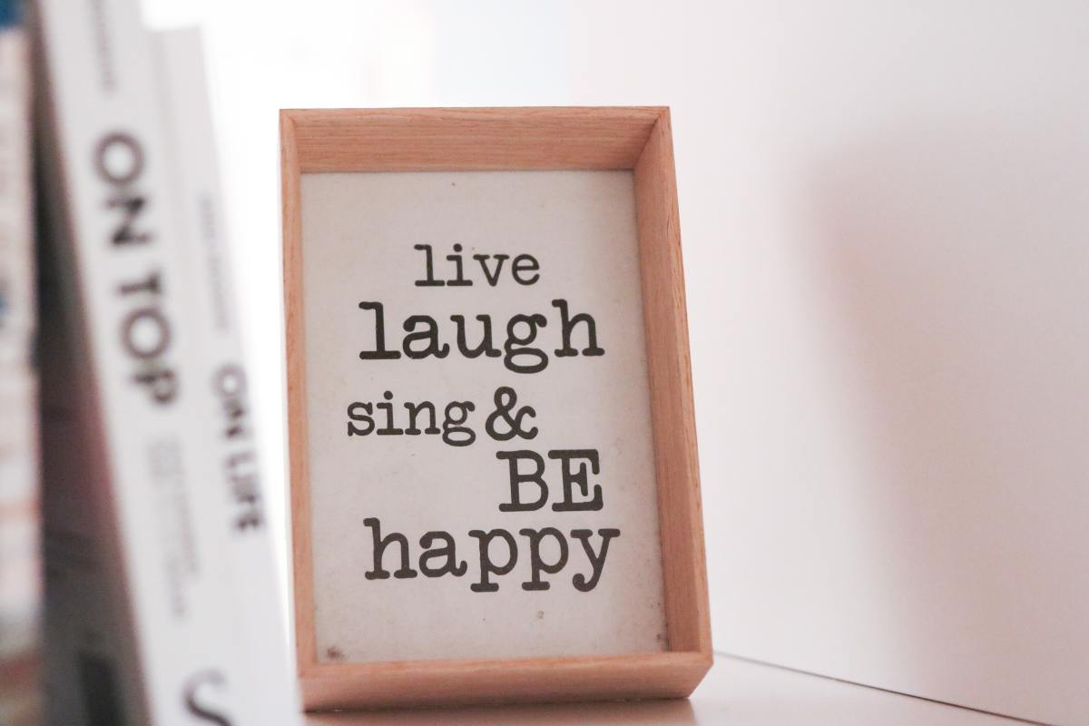 Happiness is all about living in the present moment.