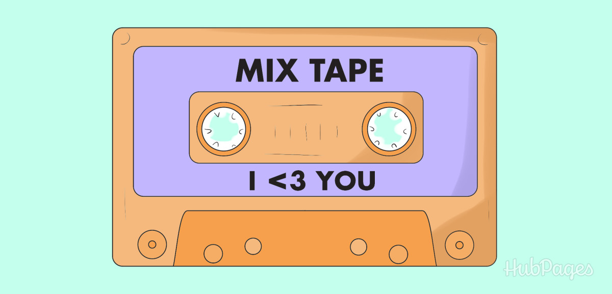 """Write him a song and put it on a playlist, CD, or mix tape to show him, """"I  3 You."""""""