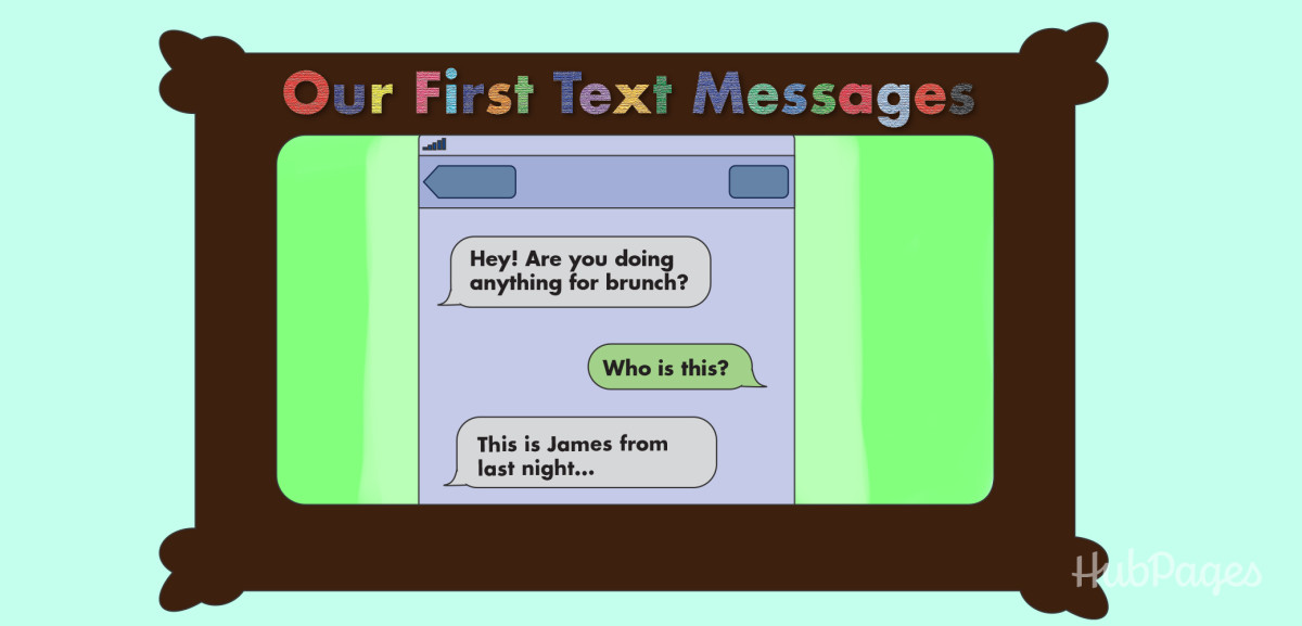 Make him a thoughtful gift that you couldn't ever buy—like a framed screenshot of your first text messages.