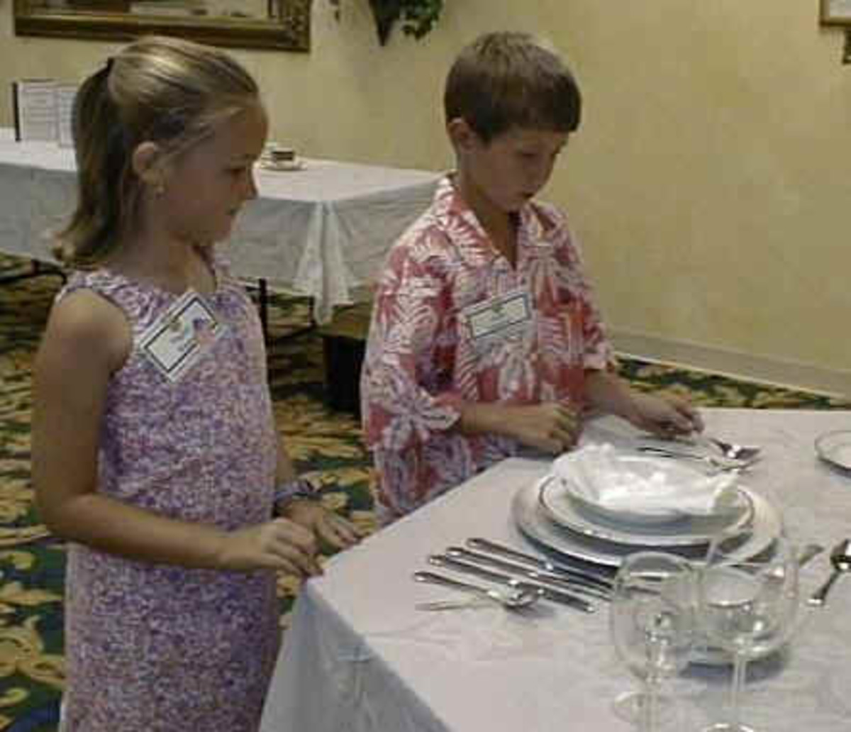 Children attend etiquette seminars to brush up on their social skills.