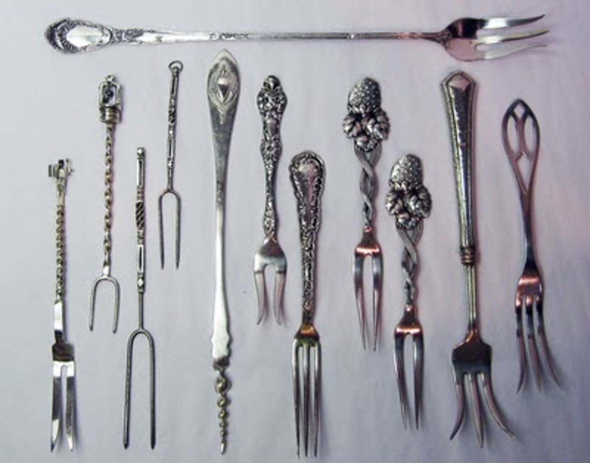 The Victorians loved silver utensils; with such a confusing array of forks it is no wonder they gave table manners a bad reputation!