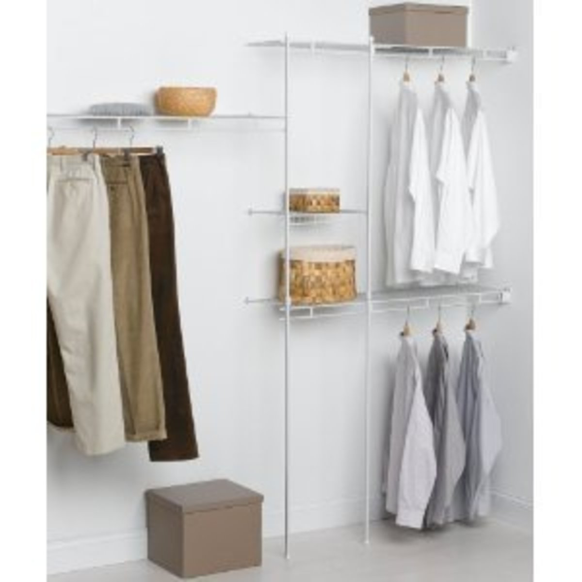 Keep your hand-me-downs tidy in the closet.