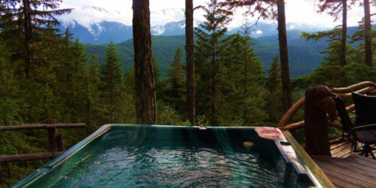 You can also find a cabin or an Air BnB with a hot tub.