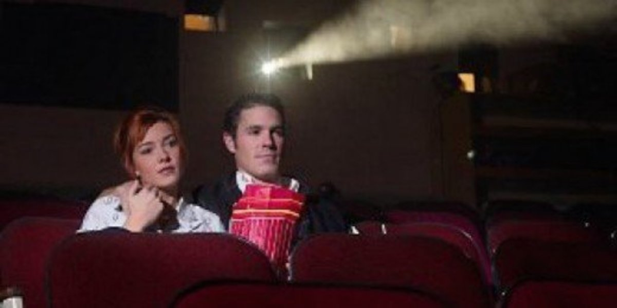 Alone in a movie theater? That sounds oh-so-romantic