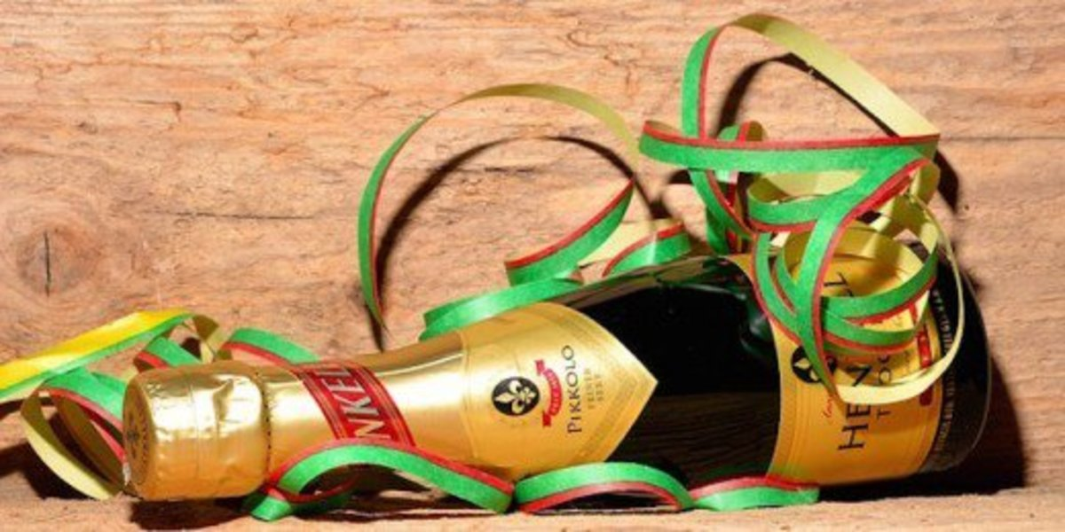Dress up a bottle of wine for a gift.