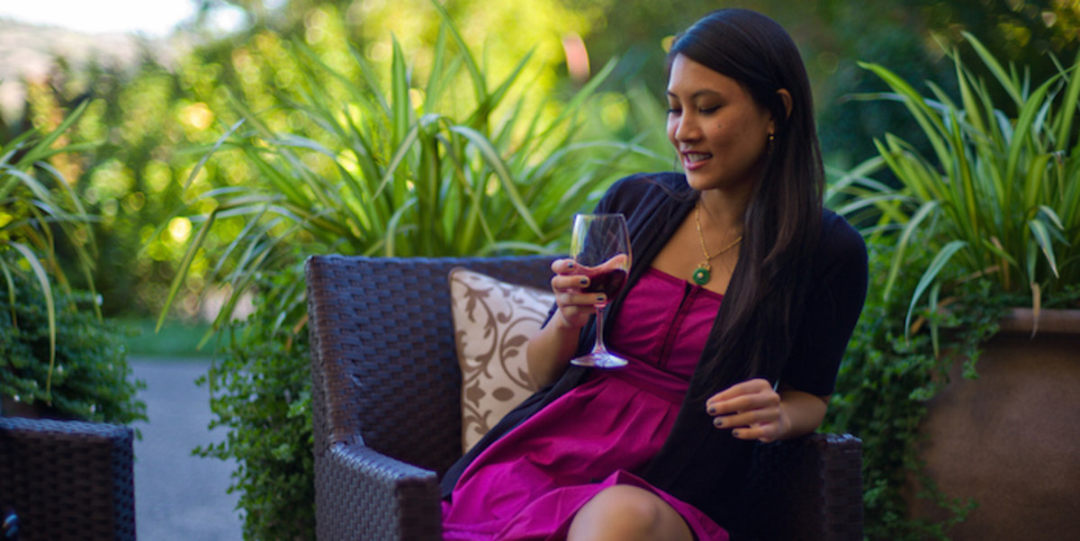 A wine tasting is a romantic way to get away from the city together.