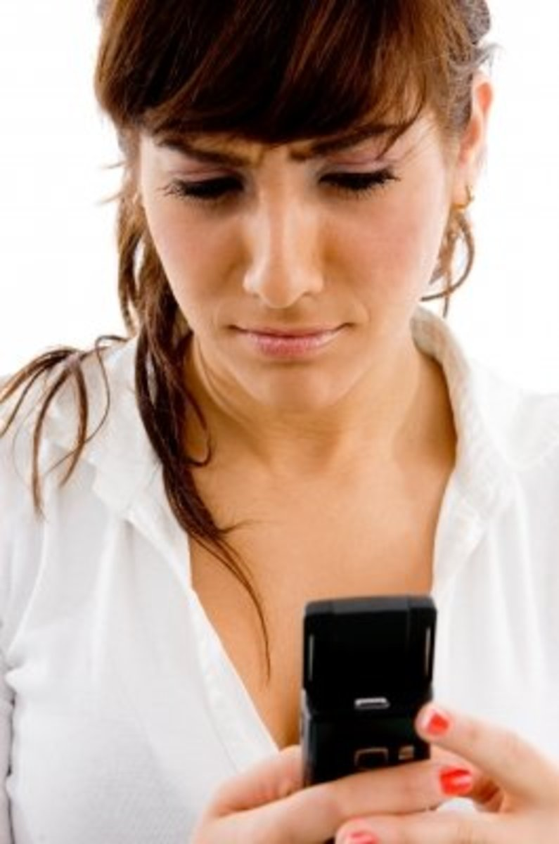 Text furiously and don't pay attention to what someone's saying.