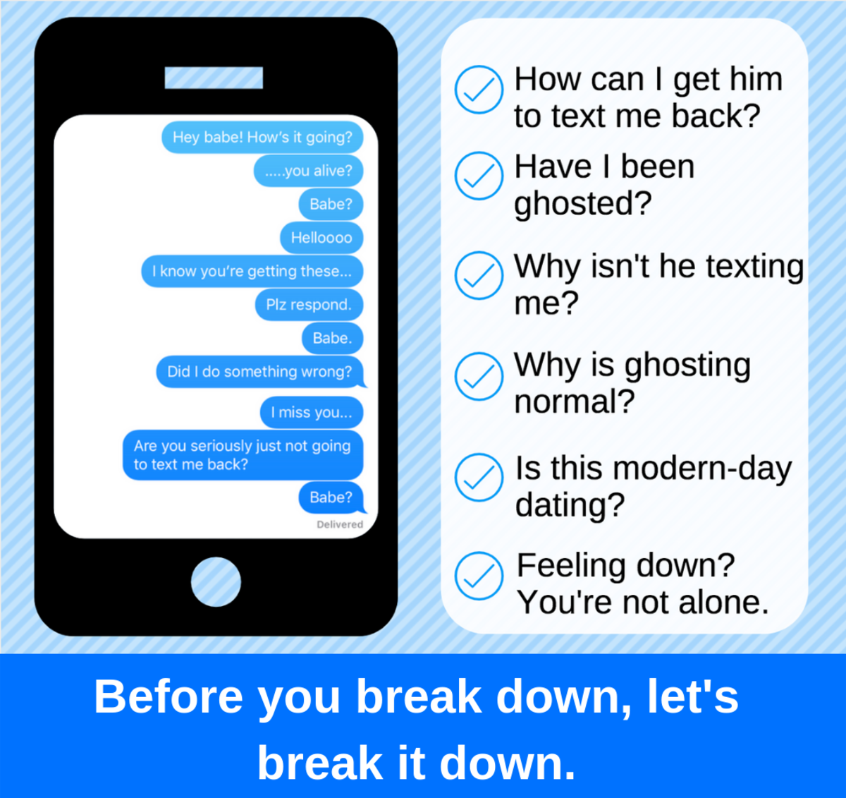 what to text to a guy who stopped texting