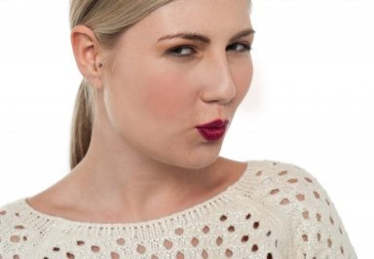 Pouting is a strong indicator of attraction. Use it to flirt with your husband.