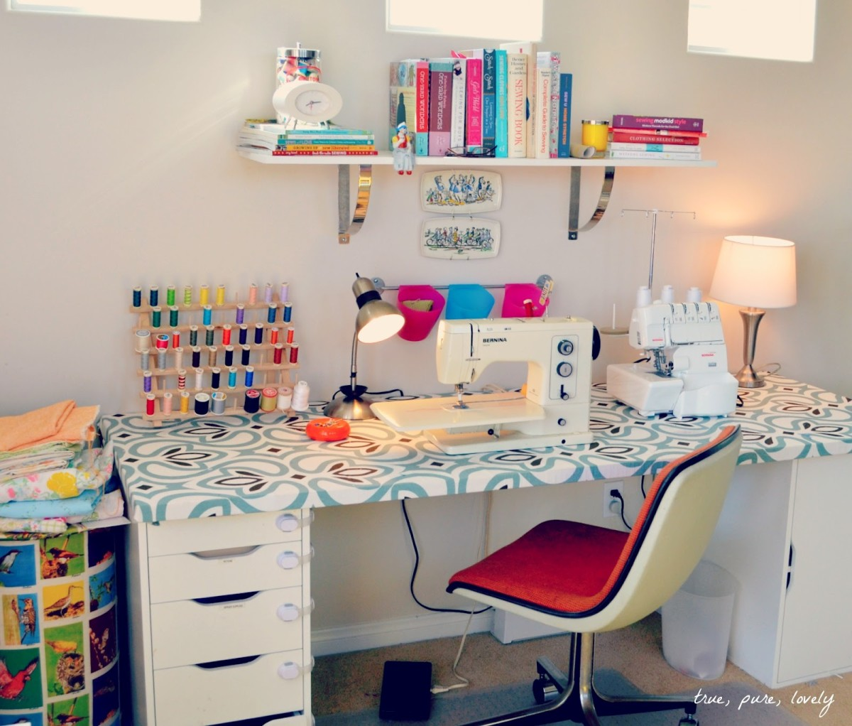 Consider investing in a sewing machine so that you can create your own clothes or home decorations!