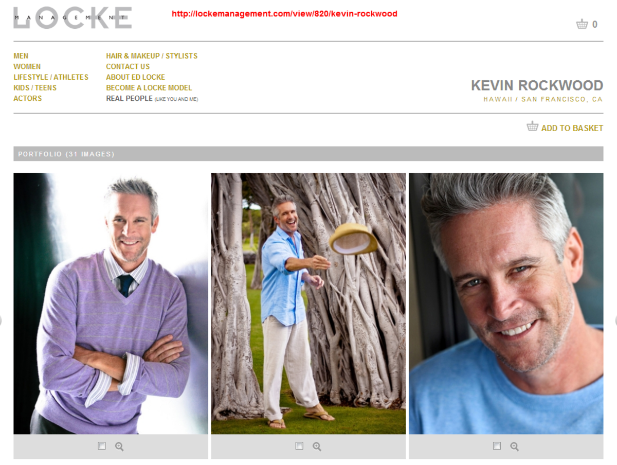 Kevin Rockwood, professional mature male model, whose photos are often stolen for dating scams.