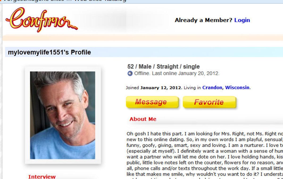 Fake profile starring Kevin Rockwood's photo