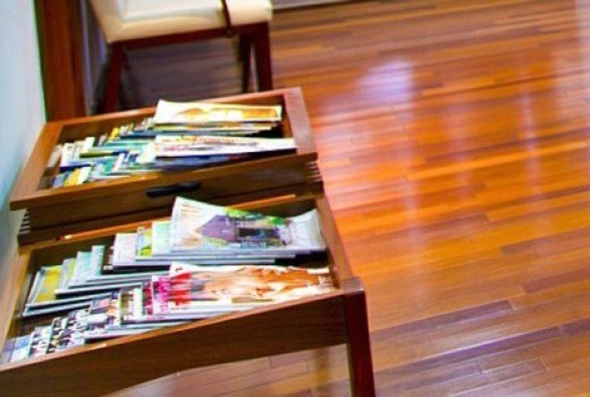 Magazines in a doctor's waiting room provide people with something to do while waiting.