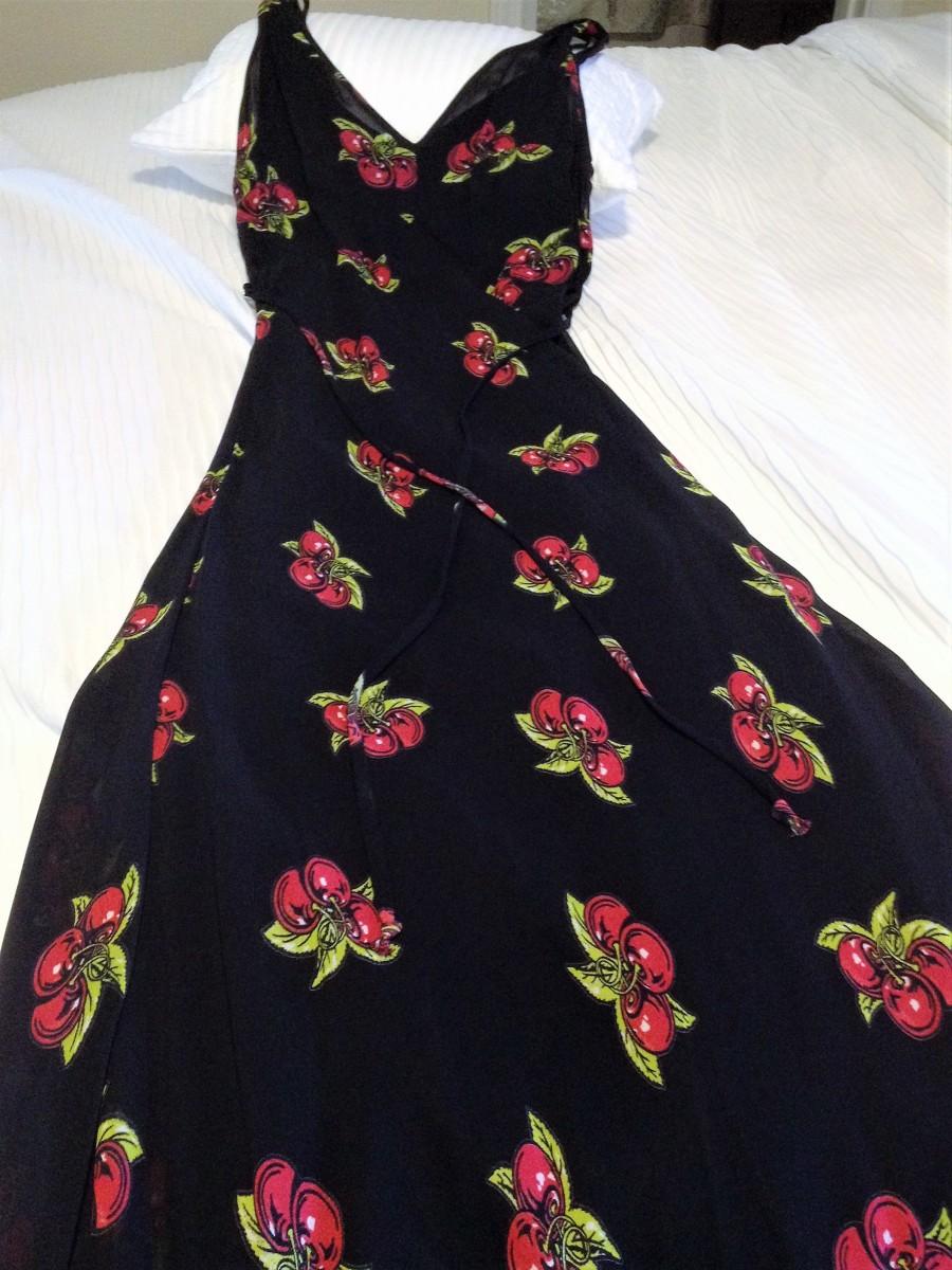 A very pretty black dress...