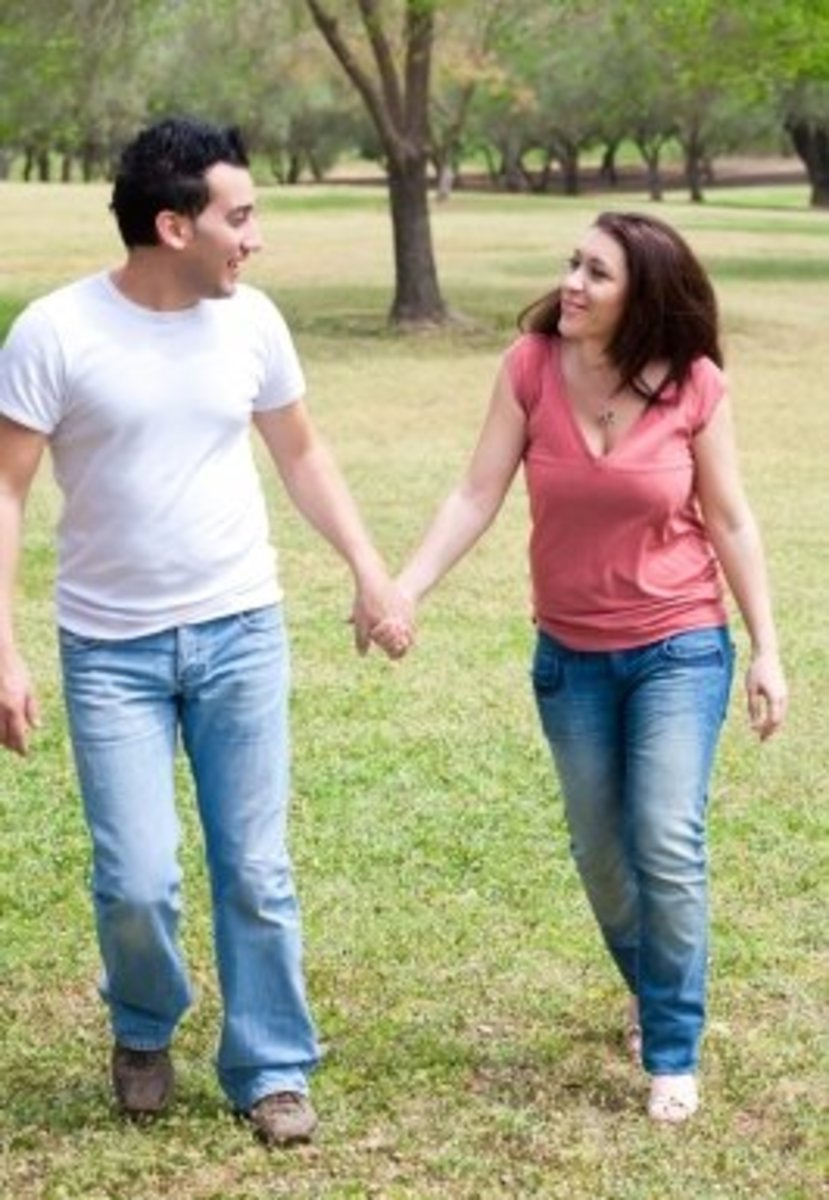 You can say a lot about how a guy feels from the way he smiles when he looks in your eyes.