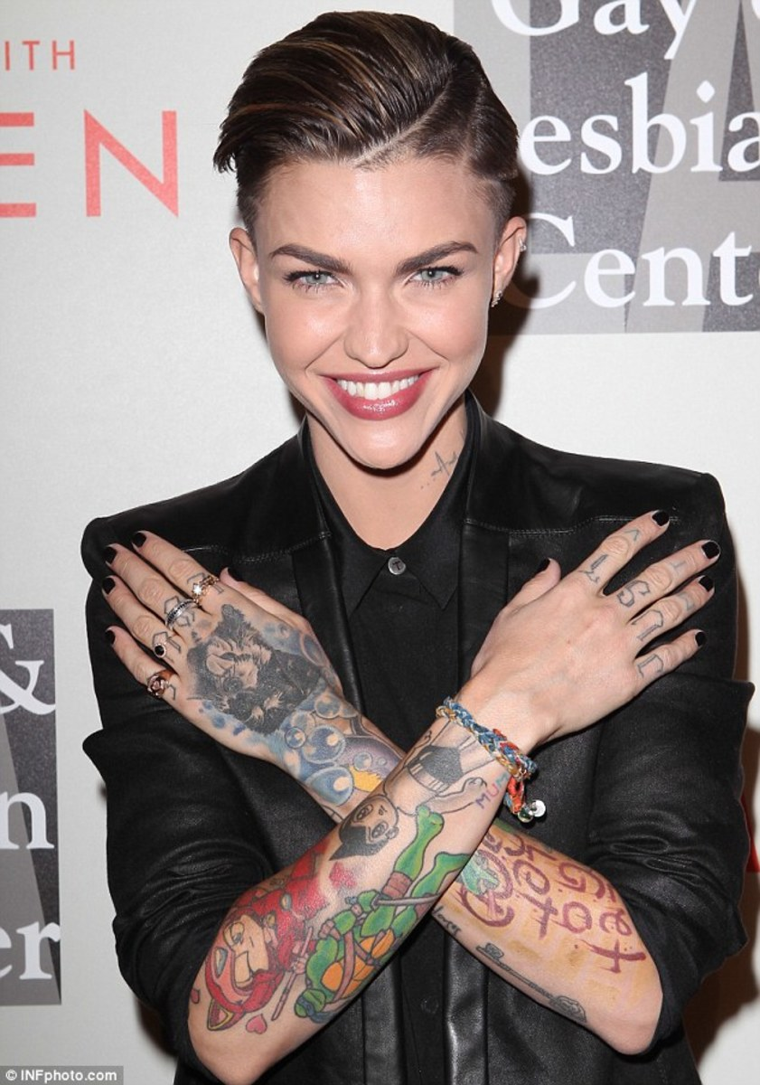 RUBY ROSE. & THOSE TATS!